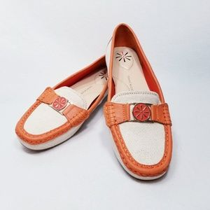 Isaac Mizrahi Live Canvas & Leather Trim Loafers